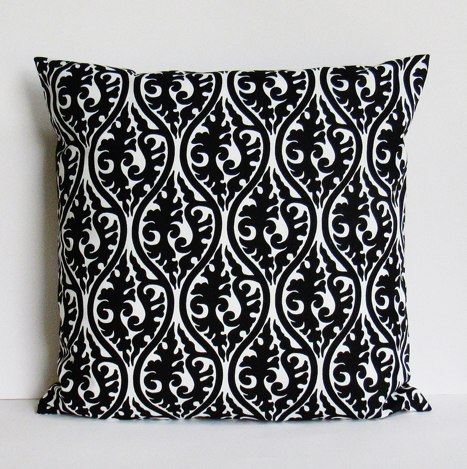 Black Throw Pillow Cover Geometric Decorative Accent Sofa Bed