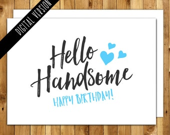 items similar to instant download  happy th birthday card for, Birthday card