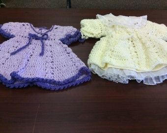 Toddler crochet dresses