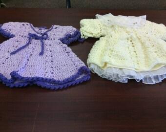 Toddler crochet dresses