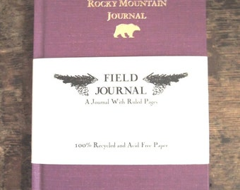 Rocky Mountain Field Journal - New - Beautiful Hard Binding - Lined Pages - Handy Size