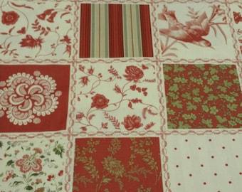 French General Favorites Vintage  Christmas Fabric Moda Holiday Fabric One Yard Cut/ Half Yard Cut Sale