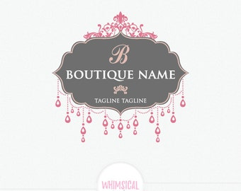 Boutique Logo 5 - fashion store Sign - Luxury Elegant Sticker design