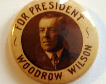 Woodrow Wilson Genuine Imitation Campaign Button
