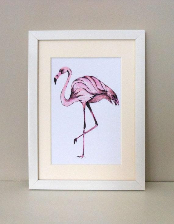 Flamingo Art Print Flamingo Wall Art Pink Home By