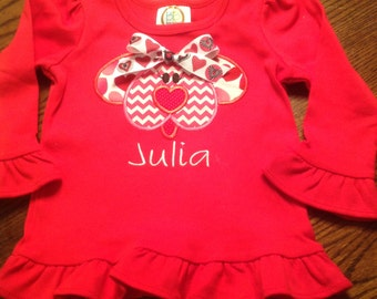 Your little girl will be a hit wearing a tee shirt like this one!