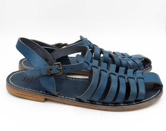 Italian Leather Sandals Size 8