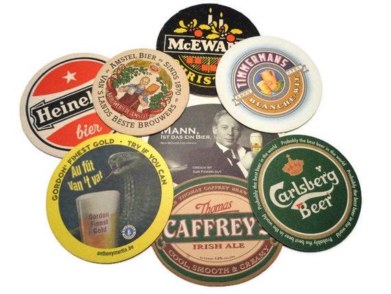 Vintage european beer coasters cardboard beer mat barware - Cardboard beer coasters ...