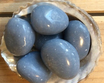Angelite, Stone of Awareness, Peaceful, Angelic, Large - Extra Large Stone, Healing Crystal, Spiritual Stone, Meditation, Tumbled stone, Cha