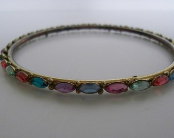 Vintage multi coloured stone bangle