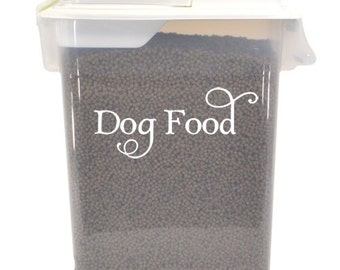 "Dog Food Label - Canine Puppy Mutt Treats Vinyl Decal Sticker - 7"" x 3"" *Free Shipping*"