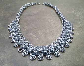 Rondo a la Byzantine Chainmaille Statement Necklace