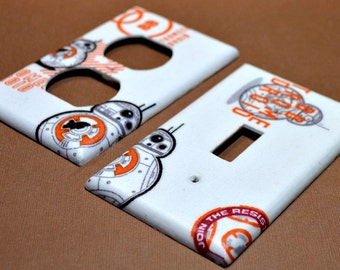 Star Wars  BB-8  Light Switch Covers Outlet Covers