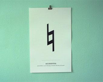 Accidental 11x17 Poster Print