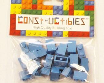 Constructibles® x25 Medium Blue1x2 Bricks 3004 - LEGO® Bulk Parts