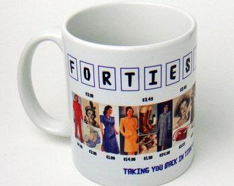 1940s Fashion Collection Coffee Mug