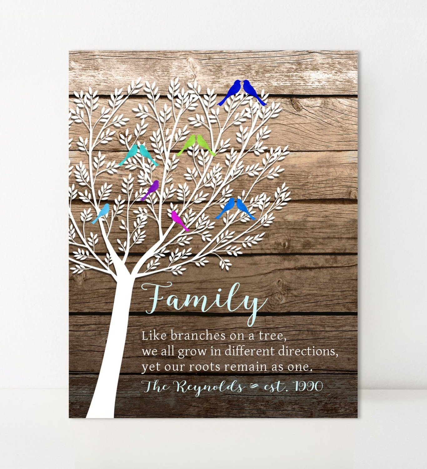 Like branches on a tree family tree print personalized gift for Family tree gifts personalized