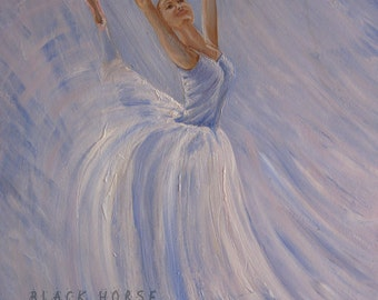"Ballerina ""Blue Dancer"" Digital File JPG/ballet/file to download/Printable Art/to print/"