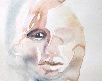 obscurity . original watercolor painting