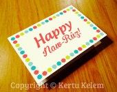 "BAHA'I Greeting Card ""Happy Naw-Ruz"""