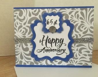 65th Wedding Anniversay Card L-05