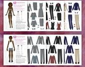 Professional Wardrobe Paper Doll Set