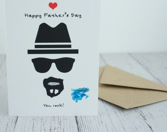 Funny Father's Day Card, Greetings Card, Fathers, Love, Dad, Walter White, Breaking Bad, Blue Meth, You rock!