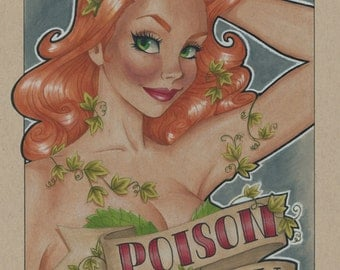 "Poison Ivy Pin Up -  5""x 7"" Print"