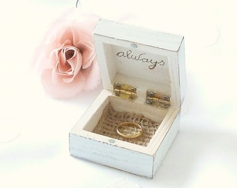 Rustic chic Wedding Ring Bearer Box, Ring Pillow Beach Wedding