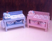 Dolls House Miniature OOAK Vintage Dolls House Changing Unit