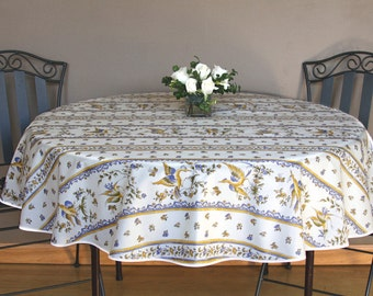 Small Round Table Cloth 42 Or 60 Coated Or
