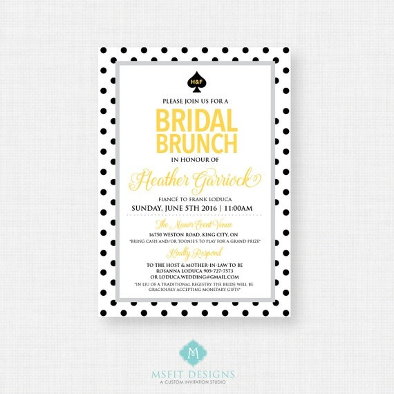 Printable Bridal Shower Invitation - Bridal Shower,  DIY, Printable, Polka Dot
