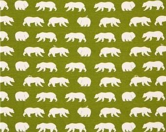 Birch 100% Organic Knit Fabric - Bear Camp - Grass