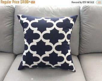 SALE Pillow Cover, Navy Blue Pillow, Decorative Throw Pillow, Pillow, Decorative Pillow, Throw Pillow, Cushion, Blue Pillows, Various Sizes