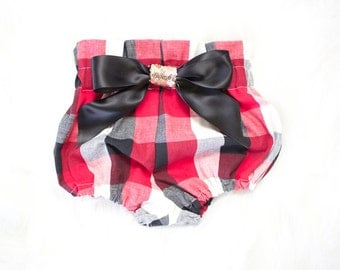 Red and Black Plaid High Waist Bloomers