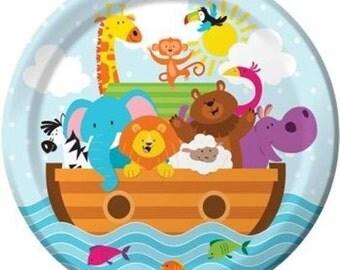 Noah's Ark 7-inch Paper Plates 8 Per Pack