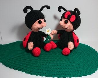"PDF crochet pattern - pattern ""Ladybug Marie & Mario"""