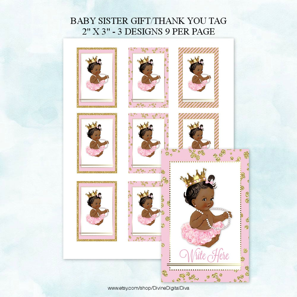 baby shower gift thank you tags labels by divinedigitaldiva
