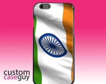 Hard Snap-On Case for Apple 5 5S SE 6 6S 7 Plus - CUSTOM Monogram - Any Colors - India Waving Flag Indian