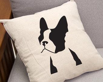 Boston Terrier, Throw Pillow 16 x 16 Decorative Pillow & Pillow Insert