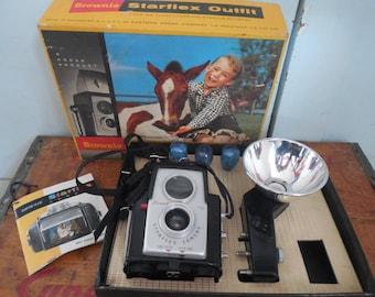 Brownie Starflex Camera with Original Box...Flash...Photography