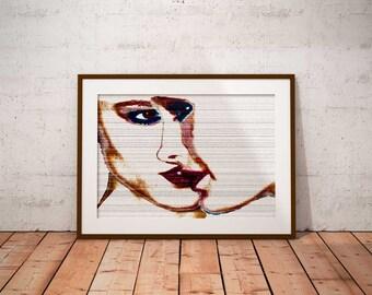 Pop Art print, pop art wall decor poster print wall art