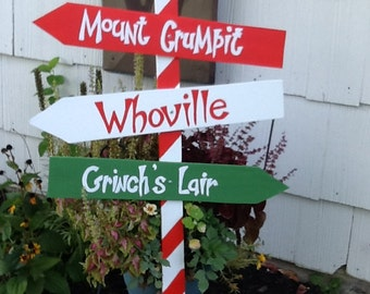 The grinch yard art sign mount crumpit whoville grinch s lair