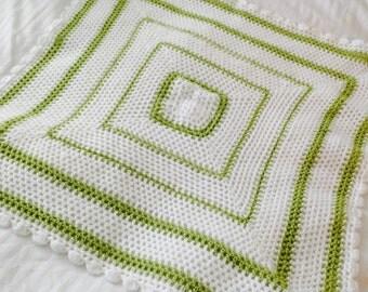 Baby Blanket, Traditional Hand-Crochet Pram Blanket, Cot Blanket, New Baby, Cot Blanket, Pram Topper, Reborn Doll, Newborn