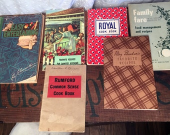 Vintage Cook Books Entertaining Country Kitchens