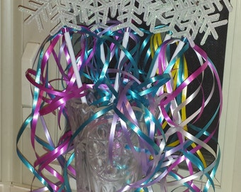 12 Fairy Princess Wands Party Favors White Snowflakes