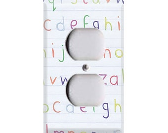 Lowercase Alphabet Outlet Cover