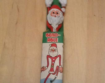 vintage bendy santa toy in original package
