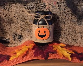 Jack O Lantern mason jar, Halloween mason jar, Fall mason jar