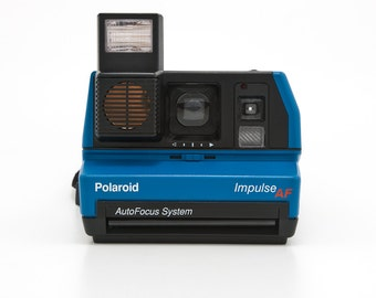 Blue Polaroid 600 Impulse Instant Camera - Film Tested - Guaranteed Working Polaroid 600 Uses Impossible Project 600 Instant Film